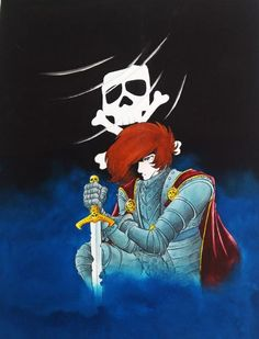 One of Harlock's ancestor. Since then the Jolly Roger had been the Harlock family's emblem.