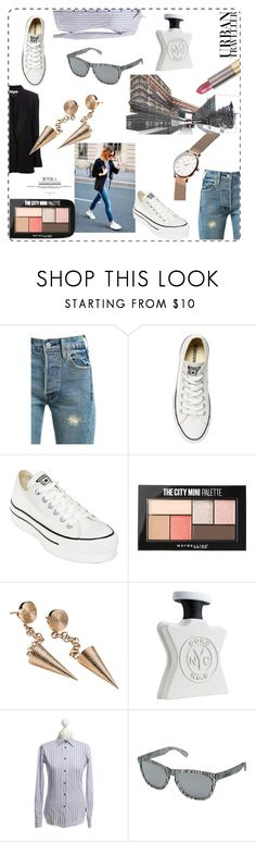 """""""Urban Chic"""" by mariyushka ❤ liked on Polyvore featuring Levi's, Converse, Maybelline, Mattioli, Bond No. 9, Etro, Oakley, Urban Decay and whitesneakers"""