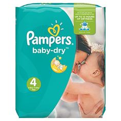 Pampers – Baby Dry – Couches Taille 4 (7-18 ou 8-16 kg /Maxi) – Pack Economique 1 Mois de Consommation (x174 couches)