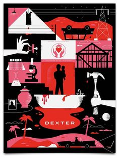 Dexter poster, one of a set by Ty Mattson