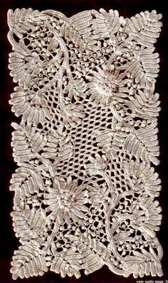 Really nice examples of Irish crochet and some pic tutorials