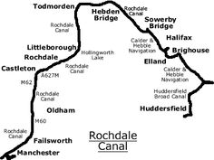 """VIRTUAL CRUISE along the ROCHDALE CANAL: The Canal runs for 33 miles between Sowerby Bridge, West Yorkshire, & Manchester, England. - Tour is arranged in 5 sections. It runs from east to west, but includes views of the canal looking in either direction. The """"trip"""" continues from the virtual cruise of the Huddersfield Narrow & Broad Canals. You can begin from the start of the Rochdale Canal in Sowerby Bridge or by following the Calder & Hebble Navigation between Cooper Bridge & Sowerby…"""