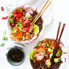 Quick and Easy budget friendly Poke bowl Recipe Healthy Recipe Videos, Easy Healthy Recipes, Veggie Recipes, Veggie Meals, Healthy Choices, Healthy Meals For Two, Healthy Eating, Healthy Food, Healthy Skin