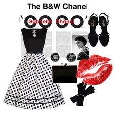"""""""B&W Country Club Brunch"""" by reggiano ❤ liked on Polyvore featuring Chanel, Manic Panic and country"""