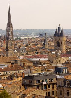 View from Tour Pey-Berland in Bordeaux, France (by Paul 'Tuna' Turner).