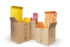 Packaging of the World: Creative Package Design Archive and Gallery: Anat Erez Fellner Kraft Packaging, Honey Packaging, Luxury Packaging, Paper Packaging, Coffee Packaging, Label Design, Branding Design, Package Design, Box Surprise