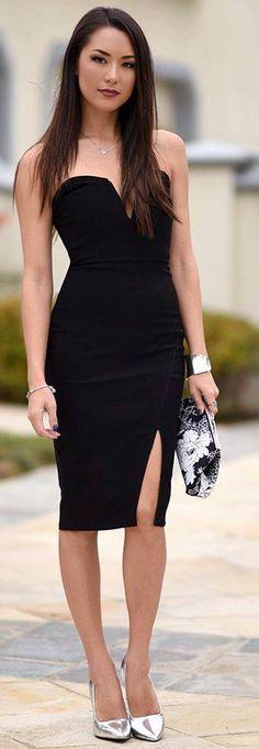 Viste de negro para lucir mas hermosa, elegante y estilizada