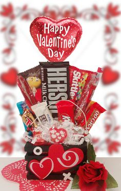 ValentineS Day Basket Ideas  Valentine Day Gifts  Diy Valentine