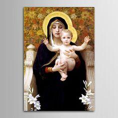 現代 アートなモダン キャンバスアート アートパネル 壁掛け 油絵の特大抽象画1枚で1セット ウィリアム アドルフ ブグロー  聖母とイエス キリスト 複製品【納期】お取り寄せ2~3週間前後で発送予定【送料無料】ポイント
