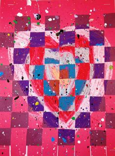 Valentine's Day Weaving with a little Splatter