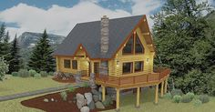 Bedrooms: 3 Bathrooms: 2.5 Number of Stories: 2 The 1,544 square foot St. Joe offers comfortable alpine style. The chalet style home incorporates a open kitchen, dining and great room area for soci…