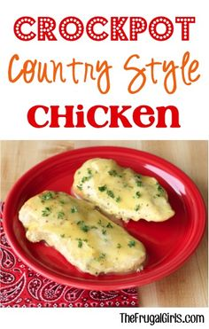 Crockpot Country Style Chicken Recipe at TheFrugalGirls.com