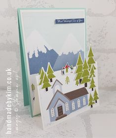 Stampin' Up! Demonstrator Kim Price : Trimming the Town Double Easel Card Patterned Sheets, Fancy Fold Cards, Easel Cards, Stampin Up Christmas, Make It Work, Paper Crafts, Colours, Mini, Holiday