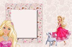 Barbie Moda e Magia - Kit Completo com molduras para convites, rótulos para guloseimas, lembrancinhas e imagens! - Fazendo a Nossa Festa
