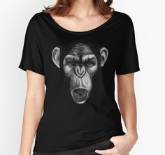 """""""Rise of the Planet of the Apes"""" Women's Fitted V-Neck T-Shirts by Omar Mejia 