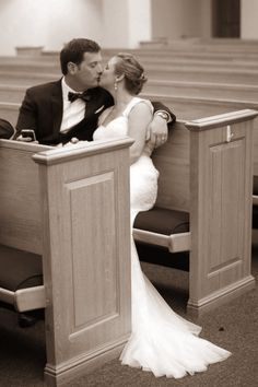 Church photo...moment alone after the wedding