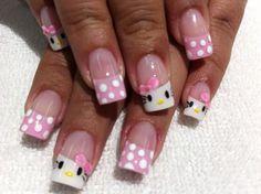 Más de 40 fotos de uñas de porcelana decoradas   Decoración de Uñas - Manicura y Nail Art
