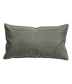 Cotton Cushion Cover   Khaki green   Home   H&M US