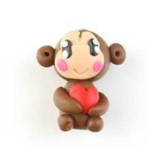 * New Adorable Baby Monkey Polymer Clay Beads. Starting at $5 on Tophatter.com!