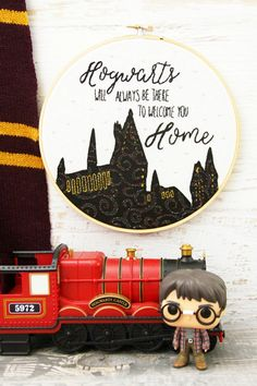 Vintage Embroidery Patterns Hogwarts is Home Embroidery Hoop Art - Show off your Harry Potter style with this magical Hogwarts is Home Embroidery Hoop Art. This is a great beginner project that anyone can do! Embroidery Hoop Crafts, Embroidery Transfers, Embroidery Patterns Free, Hand Embroidery Patterns, Vintage Embroidery, Embroidery Stitches, Embroidery Sampler, Stitch Patterns, Embroidery Digitizing