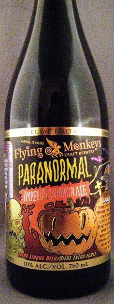 Flying Monkeys Paranormal pumpkin ale, Ontario, Canada