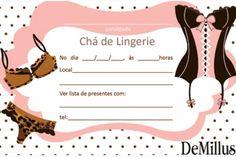 30 Convites Surpreendentes para Chá de Lingerie continue vendo... Movie Posters, Wedding, Vintage, Invitations, Cards, Future Tense, Tags, Meals, Art