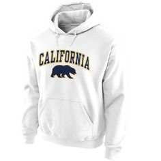 Cal Bears Midsize Arch Pullover Hoodie - White