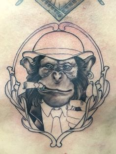 Monkey business!!! Tattoo by simon David #borneoinktattoo