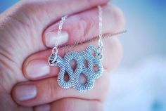 NEW  Snake Necklace  Sterling Silver Pendant  by blackpersimmons, $49.00