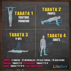 Entraînement Tabata de type CrossFit avec tractions, pompes, V-ups et squats !