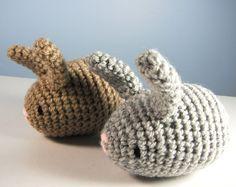 crochet+toy+rattle+rabbit+baby+plushie+toddler+custom+by+rosieok,+$12.00