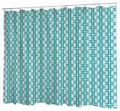 Uneekee Rodeo Teal Lattice Shower Curtain   Contemporary   Shower Curtains    By Uneekee