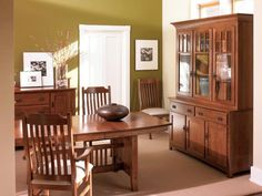 Amish Lincoln Mission Dining Room Table - Keystone Collection
