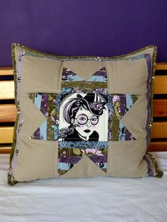 Perfect Pillow from Mandy - Simplysolids by Laura @ Needles, Pins and Baking Tins, via Flickr  Nightshade fabric