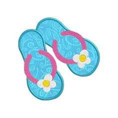 Summer Flip Flop APPLIQUE Machine Embroidery Designs