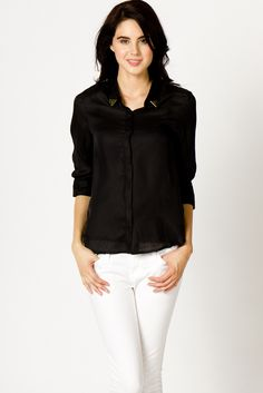 golden point blouse  Visit:  http://fashionartist.org/  Like share and repin :)