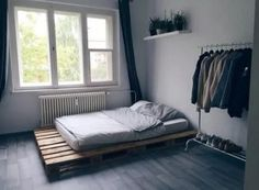 The ideas presented in this article will be of great use while you are preparing to decorate a master bedroom, especially if you have a small master bedroom. There are multitudes of ways to make a small master bedroom look… Continue Reading → Industrial Bedroom Design, Small Master Bedroom, Modern Bedroom, Contemporary Bedroom, Bedroom Neutral, Master Suite, Small Bedroom Designs, Bedroom Ideas For Small Rooms For Adults, Minimalist Room