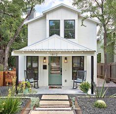 small white modern farmhouse