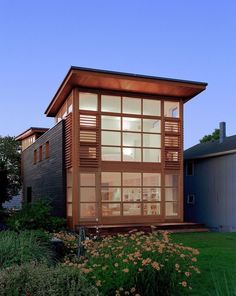 Sound House - This contemporary wooden two-storey property designed by Roger Ferris + Partners is located on a narrow waterfront site, in Fairfield, Connecticut, USA.