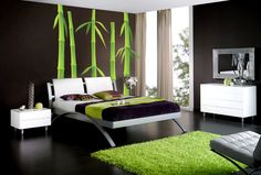 Cool wall decals wall stickers art green bamboo. $80.00, via Etsy.