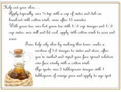 Apple cider vinegar uses!