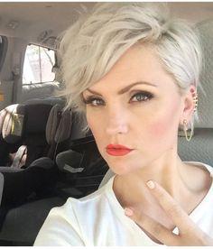 Stunning blonde pixie