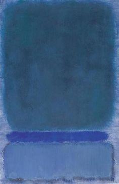 Mark Rothko, Green on Blue, 1968 on ArtStack #mark-rothko #art