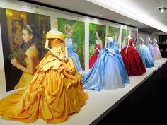 disney princess A look at a stunning new bridal collection out of Japan. These Disney Princess Gowns are a dream come true! Bal Disney, Disney Mode, Princesa Disney, Disney Rapunzel, Disney Magic, Disney Art, Disney Princess Dresses, Disney Dresses, Disney Outfits