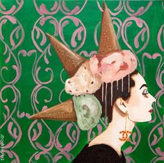 """Audrey With Ice Cream Mohawk"" 30 x 30"