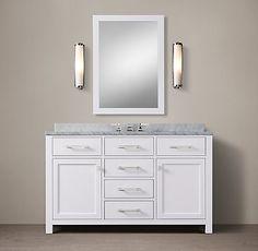 Hutton Vanity Bath Collection - White Polished Nickel | RH