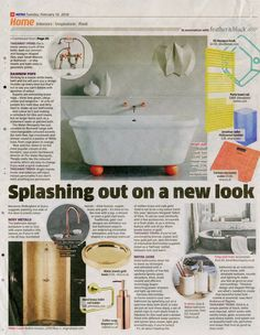Edgy Zen three-hole basin tap from Watermark Collection  http://www.thewatermarkcollection.eu/ Metro Magazine 16th February 2016