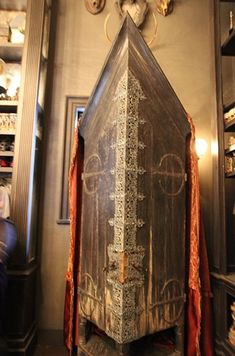 At Borgin and Burkes is the Vanishing Cabinet. If you listen closely, you'll hear a bird chirping from inside like in Half-Blood Prince. | 17 Hidden Gems Harry Potter Fans Should Look For In Diagon Alley At Universal Orlando