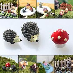 3Pcs Fairy Resin Garden Dolls House Miniatures Craft Micro Decoration Ornament