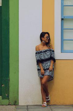 looksly - Paula do Walking on the Street com vestido ciganinha. Quer comprar? Fale conosco,